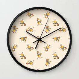 Skater Boy in Yellow Wall Clock