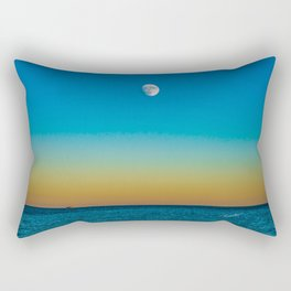 Moon Rising Over Chicago's North Shore Rectangular Pillow