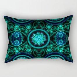 Tecno Flowers1 Rectangular Pillow