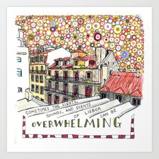 overwhelming Art Print