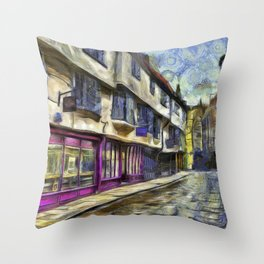 The Shambles York Van Gogh Throw Pillow