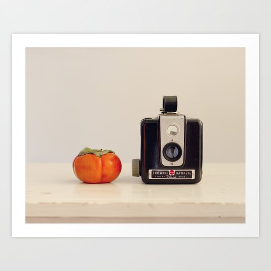 Persimmon and a Brownie Art Print