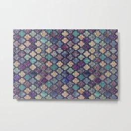 Moroccan Tile Design In Retro Colors Metal Print
