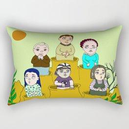 Human gophers Rectangular Pillow
