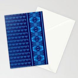 Buffalo Running (Blue) Stationery Cards