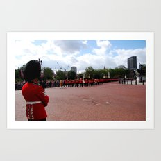 A Guard Watches the Soldiers Art Print