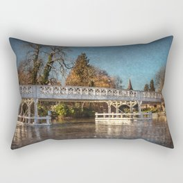 The Toll Bridge At Whitchurch-on-Thames Rectangular Pillow