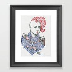 Raining Feathers  Framed Art Print