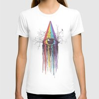 purple T-shirts featuring Look into the Future by Norman Duenas