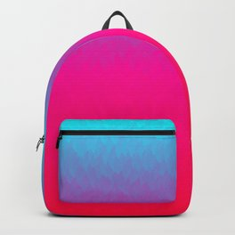 Blue purple and pink ombre flames Backpack