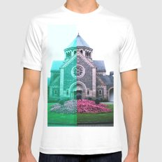 Cracked church... MEDIUM White Mens Fitted Tee