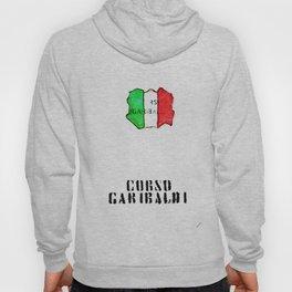 Italian flag painted of Corso Garibaldi Hoody