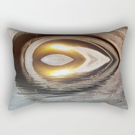 Lighted Water Tunnel Abstract Rectangular Pillow
