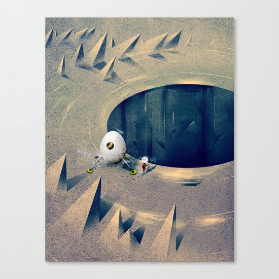 "Lunarize ""Big Hole"" Print Canvas Print"
