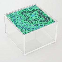 Doodle 16 Blue Acrylic Box
