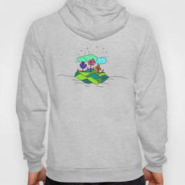 Tropical illustration colorful Hoody