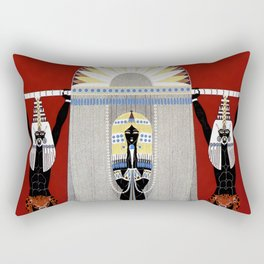 """The Egyptian"" Art Deco Illustration Rectangular Pillow"