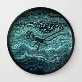 Emerald Agate Geode slice Wall Clock