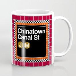 subway chinatown sign Coffee Mug