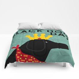 Black Dog Day Royal Crown Comforters