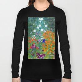 Gustav Klimt Flower Garden Langarmshirt