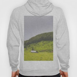 Countryside house & hill Hoody