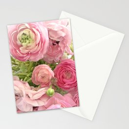 Shabby Chic Cottage Ranunculus Peonies Roses Floral Print Home Decor Stationery Cards
