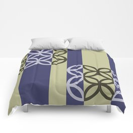 Striped Circles Pattern Comforters