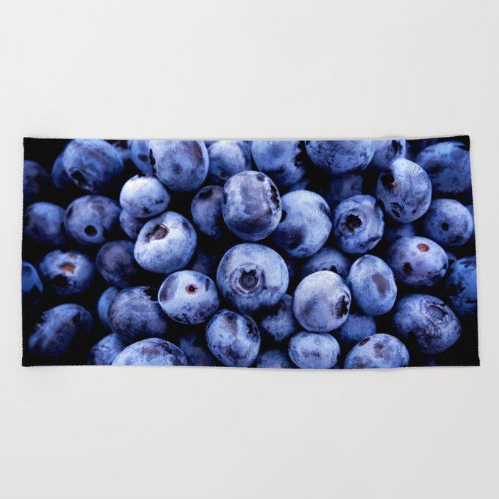 Beach Blanket Blueberry: Blueberries Beach Towel By Greennatural
