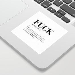FUCK Sticker