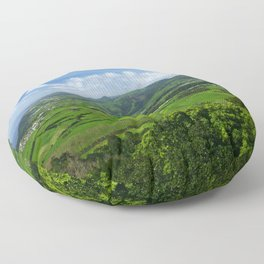 Azores islands landscape Floor Pillow