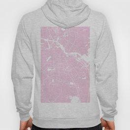 Amsterdam Pink on White Street Map Hoody