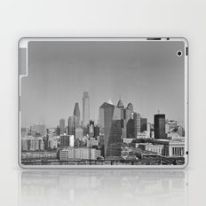 Black and White Philadelphia Skyline Laptop & iPad Skin
