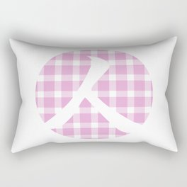 Plaid Soft Pink Person Rectangular Pillow