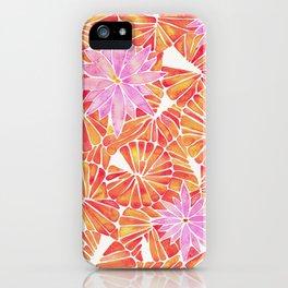 Water Lilies – Melon Palette iPhone Case