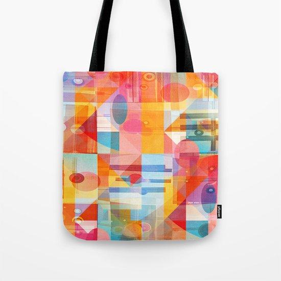 Whimsical Sunny Geometry Tote Bag