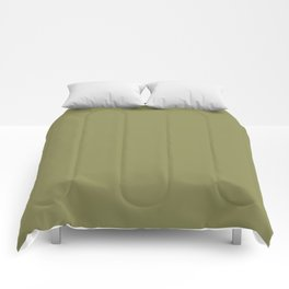 Green Olive | Pantone Fashion Color | Fall : Winter 2019-2020 | London | Solid Color Comforters