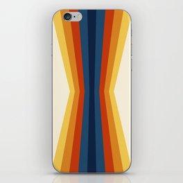 Bright 70's Retro Stripes Reflection iPhone Skin