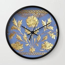 pianoflora horizontal (greek blue) Wall Clock