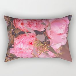 Red Flowers Rectangular Pillow