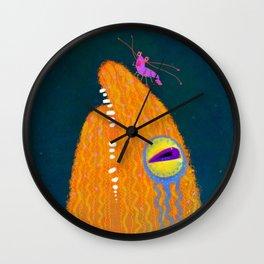Eel Flower Wall Clock