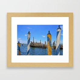 Vizcaya Barge Adventures Framed Art Print