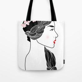 Cherry Blossom Girl. Tote Bag