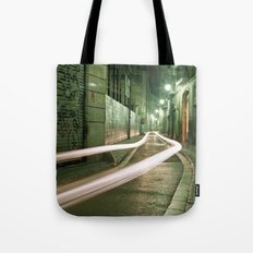 Barcelona, Spain night streets. Tote Bag