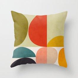 shapes of mid century geometry art Deko-Kissen