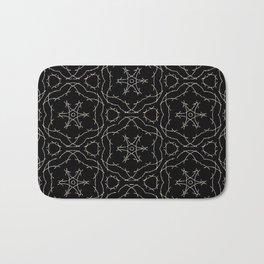 Antique Black and Gold Pattern Design Badematte