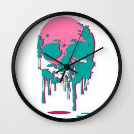 Melting Skull Head Wall Clock