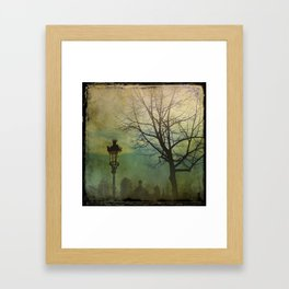 Once Upon a time a park in Barcelona Framed Art Print
