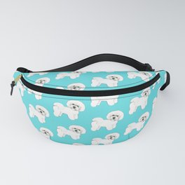 Bichon Frise on aqua / teal / cute dogs/ dog lovers gift Fanny Pack