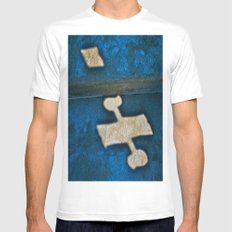 Banner Plane MEDIUM White Mens Fitted Tee